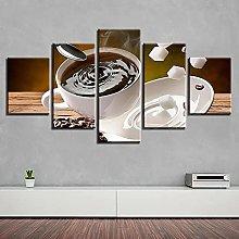 WANGZHONG 5 Piece Canvas Hd Print Modern Picture