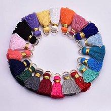 WANM 20pcs 2.5cm Cotton Thread Mini Tassels