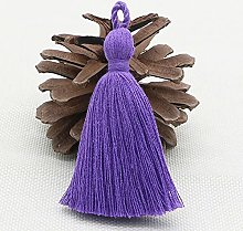WANM 20pcs 8cm Pure Cotton Tassel Fringe DIY Craft