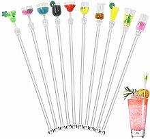 WANTOUTH 10 Pcs Cocktail Stirrers Swizzle Sticks