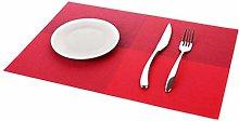 WanXingY 4 Pcs/set Placemats PVC Table Mat Color