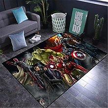 wanyouyinli Carpet Touch Soft Rugs Superhero