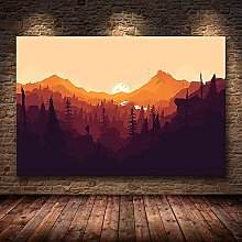 wanyouyinli Firewatch Video Games Mountains