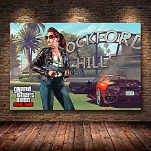 wanyouyinli Grand Theft Auto V Game Poster GTA 5