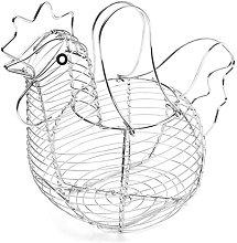 WANZSC Creative Egg Storage Basket Metal Wire Hen