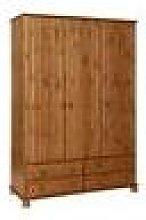 Wardley Pine 3 Door 4 Drawer Wardrobe Self Assembly