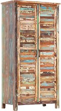 Wardrobe 90x50x180 cm Solid Reclaimed Wood - Brown