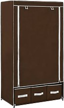 Wardrobe Brown 87x49x159 cm Fabric VD23571 - Hommoo