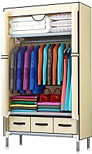 Wardrobe Clothes Cupboard, Double Fabric Canvas