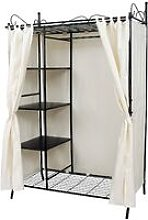 Wardrobe Clothes Cupboard Hanging Rail Storage