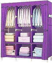 Wardrobe Cupboard Hanger Rack with Side Pockets