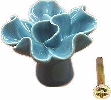 Wardrobe Door Handles Flower Shape Knobs for Chest