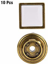 Wardrobe Door Knobs with Scew Zinc Alloy 10Pcs/Set