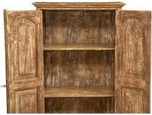 Wardrobe In Solid Recycled Wood With Antique Finish