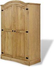 Wardrobe Mexican Pine Corona Range 2 Doors - Brown