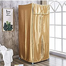 Wardrobe Movable Portable with Coat Hook Big Space