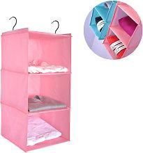 Wardrobe Organizer with 3 Compartments, Fabric