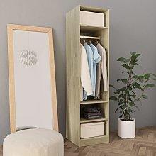 Wardrobe Sonoma Oak 50x50x200 cm Chipboard - Brown