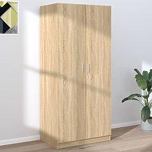 Wardrobe Sonoma Oak 80x52x180 cm Chipboard - Brown