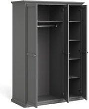Wardrobe with 3 Doors in Matt Grey