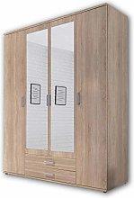 Wardrobe with Classic Door Mirror, Bulk Storage