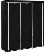 Wardrobe with Compartments and Rods 150x45x175 cm