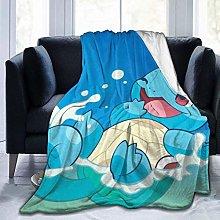Warm Bed Blanket,Squirtle Flannel Fleece Throw