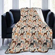 Warm Blanket Blanket Nautical Summer Tropical Dogs