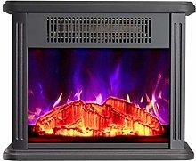 Warm Electric Fireplace Small Freestanding Mantel