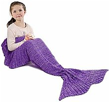 Warm Hand Knitted Personalized Mermaid Blanket