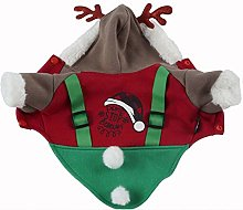 Warm Pet Puppy Clothes Cute Antlers Hoodies