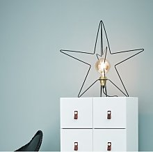 Warm White Asterix Star Decoration Christmas Lamp