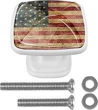 WARMFM American Flag Door Pull Knobs Drawer