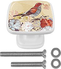 WARMFM Bird and Roses Door Pull Knobs Drawer