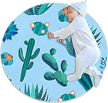 WARMFM Cactus Flowers Children Playing Area Rug