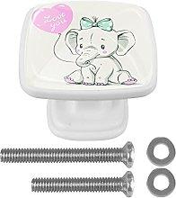 WARMFM Cute Baby Elaphant Door Pull Knobs Drawer