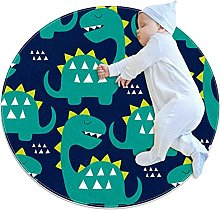 WARMFM Cute Dinosaurs Children Playing Area Rug