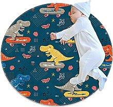 WARMFM Dinosaur Skateboard Pattern Children