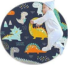 WARMFM Dinosaurs Animal Children Playing Area Rug