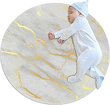 WARMFM Marble Print Children Playing Area Rug