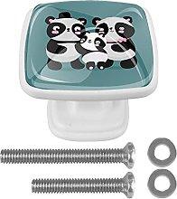 WARMFM Panda Door Pull Knobs Drawer Handles 4 Set