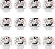 WARMFM Pig Pattern Door Pull Knobs Drawer Handles