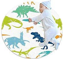 WARMFM Retro Dinosaur Pattern Children Playing
