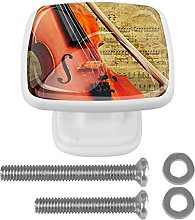 WARMFM Retro Musical Violin Door Pull Knobs Drawer