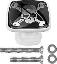 WARMFM Skull Door Pull Knobs Drawer Handles 4 Set