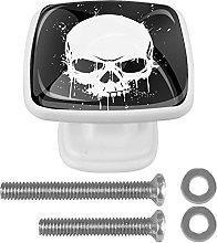 WARMFM Skull Head Door Pull Knobs Drawer Handles 4