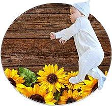 WARMFM Sunflowers Wood Background Children Playing