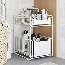 Warmiehomy 2 Tier Sliding Baskets, Pull Out