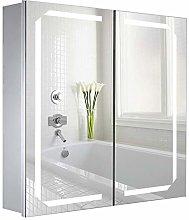 Warmiehomy 650 x 600 mm Morden LED Bathroom Mirror