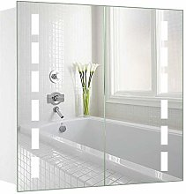 Warmiehomy 650 x 600 mm Morden LED Bathroom Mirror